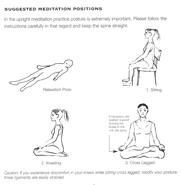 Suggested Meditation Positions